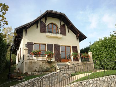 Photo for Sunny Maison Bourgeoise with tranquil garden, 15 mins from old Annecy & the lake
