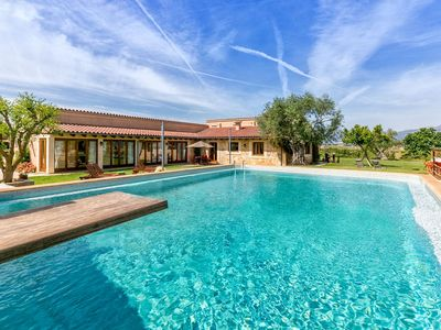 Photo for Modern natural stone finca near Campanet with XXL pool and garden
