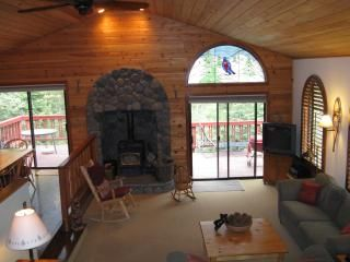 Open concept. Kitchen/dining and living. Opens to large deck BBQ/patio table.