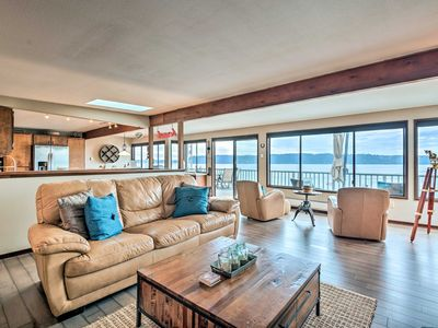 Photo for Beachfront Home w/Deck + Stunning Bay Views!
