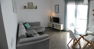 Photo for Lovely bright apartment, 550mtr of the beach and free Wifi