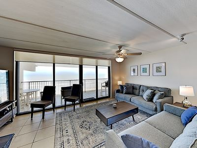Photo for New Listing! 10th-Floor Beachfront Condo #1008 - Balcony, Gulf Views, Pools