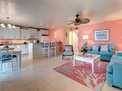Photo for Seas the Day!  2 Bedroom 2 Bath with Partial Gulf View & Steps to the Beach
