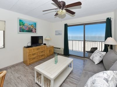 Photo for Ocean front 1 Bedroom right on the boardwalk- Fantastic Ocean Views From Corner Balcony!