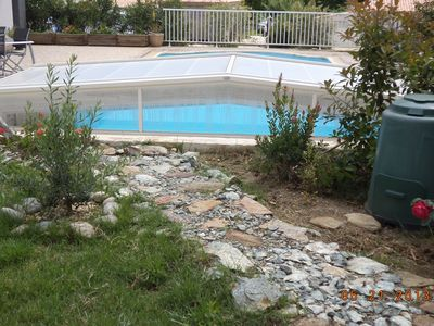Photo for independent studio, equipped clot property; garden private pool, garage