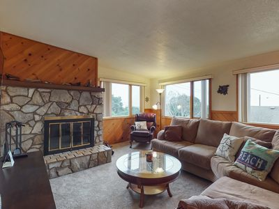 Photo for Unique house w/ river & ocean views, private hot tub & entertainment - dogs OK!