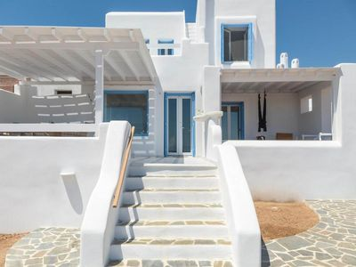 Photo for Elegant Seaside Villa welcomes you to Naxos - Three Bedroom Villa, Sleeps 8