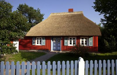 Photo for Thatched roof house close to nature and the Bodden