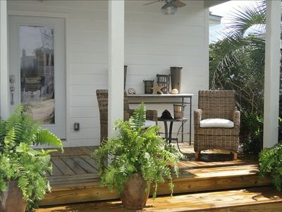 View of front porch