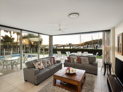 Photo for Pavillions 12 - Waterfront Spacious 4 Bedroom With Own Inground Pool And Golf Buggy