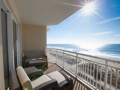 Photo for Luxurious Direct Oceanfront - Free Linens, Beach Chairs, Pools!