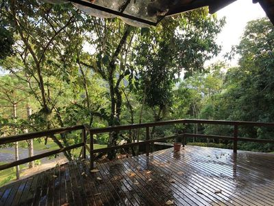 Photo for Quiet and comfortable house in the Atlantic Forest (Canoas/Varginha)