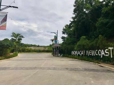 Entrance to Oceanway Residences at Boracay Newcoast