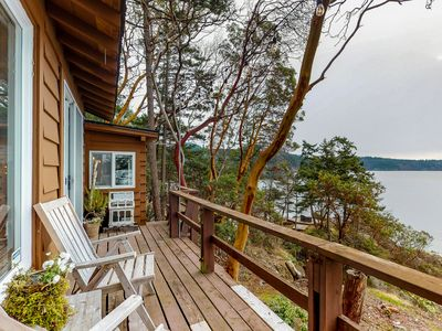 Photo for Oceanfront home moments from private beach & only a quick drive to Anacortes!
