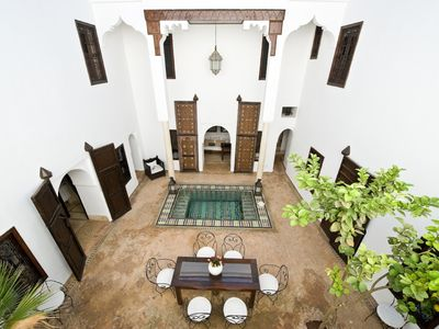 Photo for Stylish, relaxing 18th century RIad Porte Royale with staff and pool