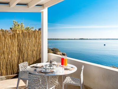 Photo for Baia del Mar house directly on the Sea for 8 People in Sicily