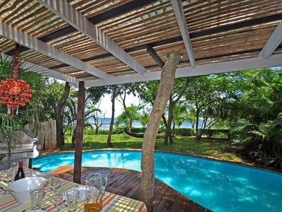 Photo for Beachfront House with Pool and Jacuzzi - Quiet Vacation