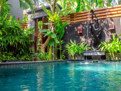 Photo for 1 Bedroom Private Pool Villa + B'fast + Shuttle Service to Kuta , Seminyak area