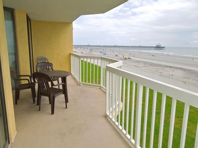 Photo for Charleston Oceanfront Villas 119- Condo with Oceanside Balcony