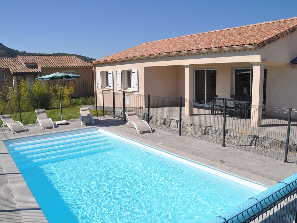 New villa 6 people closed ground with private swimming pool in vallon pont d 39 arc vallon pont d - Arc swimming pool ...