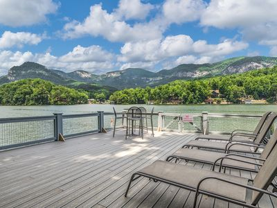 Photo for A Mountain View Lake Front Cottage with Pontoon Boat!