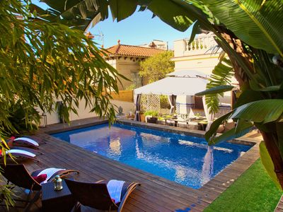 Photo for VILLA VICTORIA BARCELONA - ELEGANT LUXURY VILLA WITH POOL, JACUZZI AND GARDEN