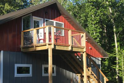 Private Entrance to the Loft Apartment and deck