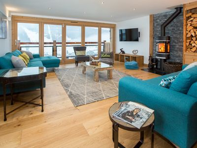 Photo for Luxury catered 5 bed chalet in Morzine, sleeps 12, with hot tub, stunning views