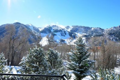 You will enjoy amazing views of nearby Aspen Mountain from the open living area of this beautiful home
