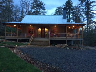Photo for Bike,hike Dupont Forest in minutes .New, rustic cabin near Brevard,Pisgah Forest
