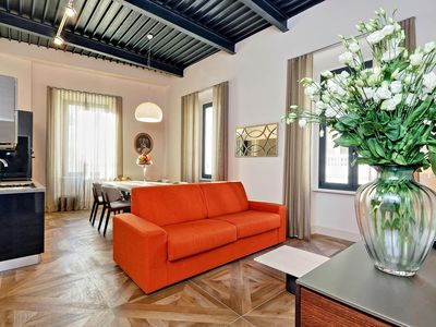 Photo for Del Basilico 3C apartment in Via Veneto with WiFi, integrated air conditioning & lift.