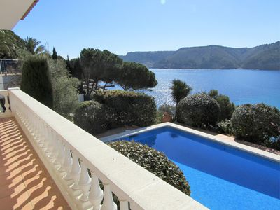 Photo for Exceptional villa with sea views private pool and direct access to the beach