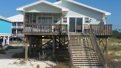 Photo for BEACH FRONT 4 BR 2 Bath Home! Stay on the beach not behind it!