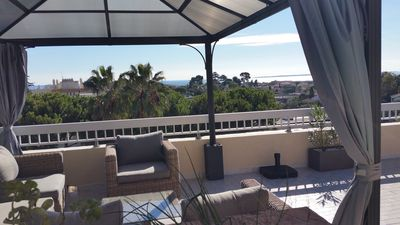 Photo for VILLA ON THE ROOF 4 p. Near sea. TERRACE 100M ² SPECTACULAR VIEW CALM ESPAC