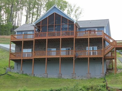 Photo for Lakefront House, Beds for 16, 4.5 Baths w/ Private Covered Dock