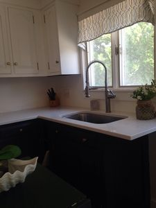 Brand new quarts countertops, sink and faucet.