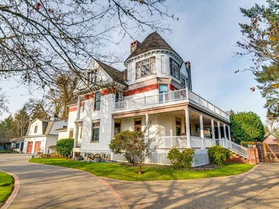 Photo for Historic Victorian Era Mansion, Minutes to Vineyards, 25 Miles to Portland, Hot Tub, Fire-Pit & BBQ