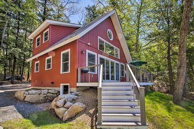 Escape to this New Hampshire hideaway at this Meredith vacation rental home.