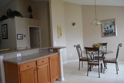 Kitchen with eating area and breakfast bar