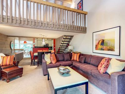 Photo for Ski-in/ski-out condo w/ shared pool, hot tub, & tennis - steps from Dollar Mtn
