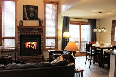 Unlimited firewood provided to enjoy a cozy fire with beautiful mountain views