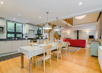 Perfect for a get together. Open plan kitchen, dining and living room.