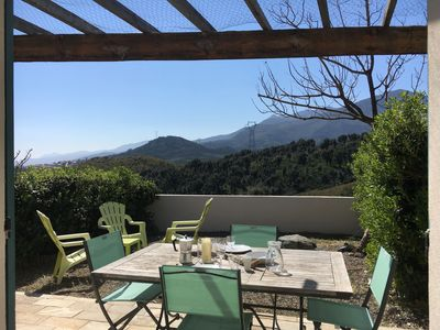 Photo for Mini villa, mountain view and maquis, near Bastia