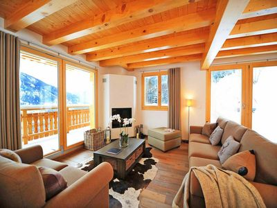 Photo for Surface area : about 150 m². Living room with bench seat, fireplace. 3 bedrooms with double bed