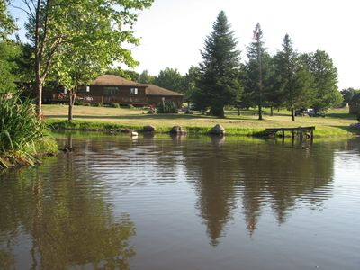 Photo for Quiet Country Log Home on two Ponds. The only thing we overlook is the scenery..