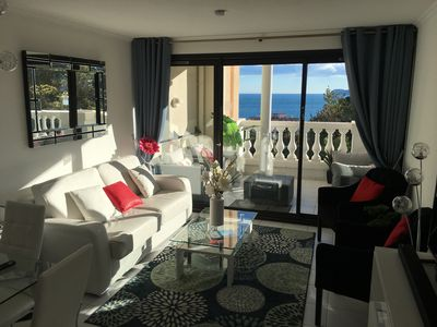 Photo for Lovely Sea View 1-2 bedroom Apartment with Large Balcony in Croix Des Gardes