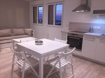 Photo for new house sea view 180 ° 1st line port of Roscoff all inclusive