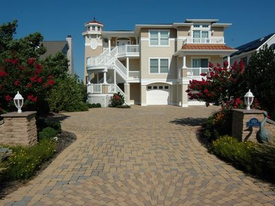 Photo for Luxurious Bayfront Duplex Rental on Long Beach Island with 80' Dock