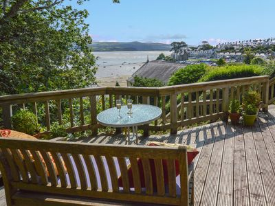 Photo for Lovely cottage with magnificent sea views in Borth y Gest