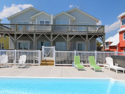 Photo for Upscale Ocean Front Duplex- New Pool, Hot Tub and Central Air. Great Location!